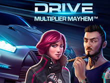 Игровой автомат Drive: Multiplier Mayhem от разработчика NetEnt